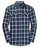 Jack Wolfskin Herren Bow Valley Shirt Langarmshirt, Night Blue Checks, XXL