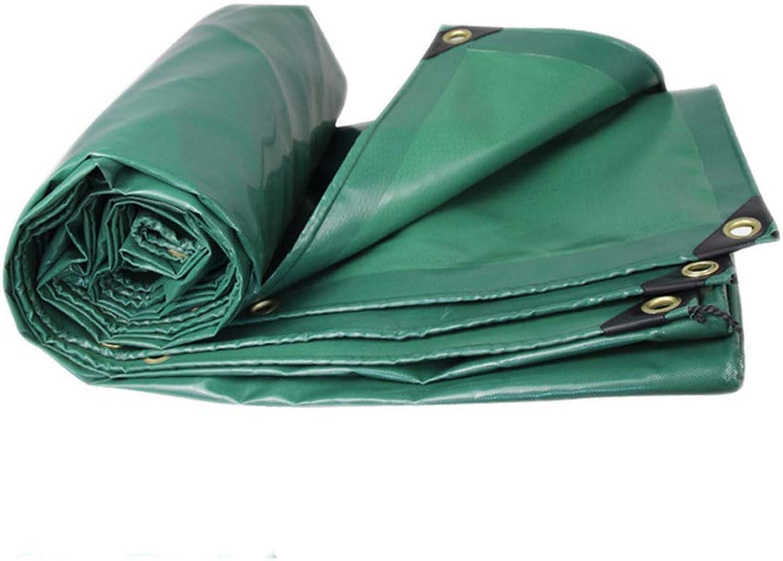 Tarps Fireproof Sunscreen Durable PVC AntiUV Tarpaulin,Thick Waterproof Tarpaulin Camping & Hiking (color   Green, Size   5  6M)