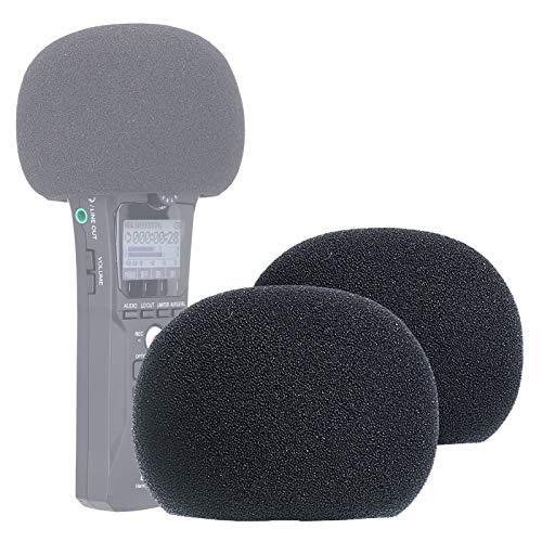 Espuma Paraviento Micrófono Parabrisas para Zoom H1 N Grabadora Digital como Filtro Pop por YOUSHARES (2 Paquetes)