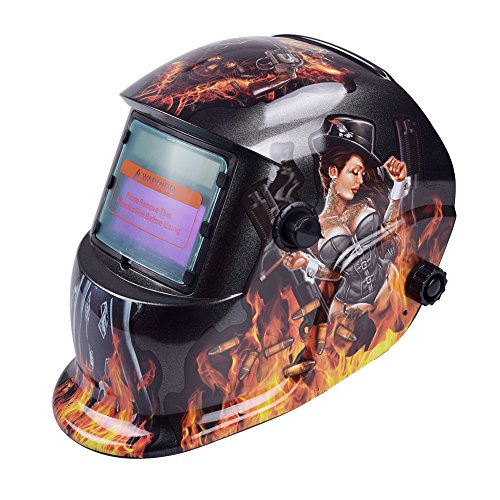 Tiptiper Gulin oscurecimiento Casco de Soldadura, oscurecimiento automático máscara de Casco de Soldadura Protección UV protección IR