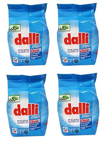 Dalli Med Waschmittelpulver, 4er Pack (4x 1,215 kg)
