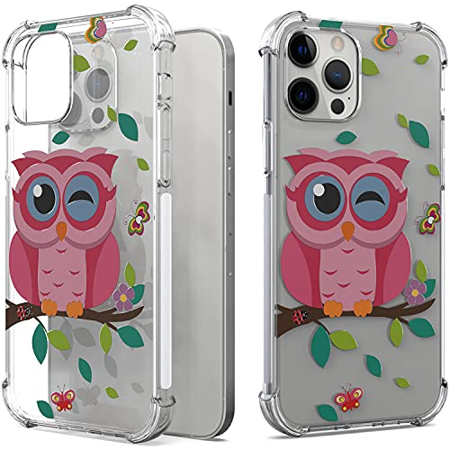 CoverON Designed for Apple iPhone 13 Pro Max Case, Slim Flexible TPU Clear Phone Cover - Owl