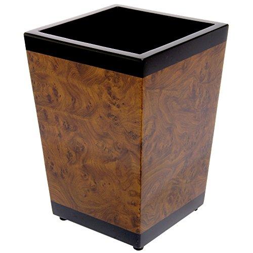 k. A. Papierkorb/Abfalleimer/Mülleimer 12l in Wurzelholzoptik - Das Geschenk für Ihren Chef