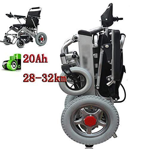 Elektrischer Rollstuhl,Geschwindigkeit Einstellen Elektrorollstuhl,Faltbar Tragbare,Sitzbreite 45Cm,Verstellbarer Arm,Frei-Reiten, Elektro-Rollstuhl,für ältere,Behinderte und Hemiplegie Patienten