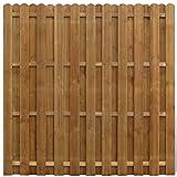 Galapara Panneau de Clôture avec Planches Intercalées Bois FSC, Clôture de Jardin Portail Terrasse Patio, 180 x 180 cm