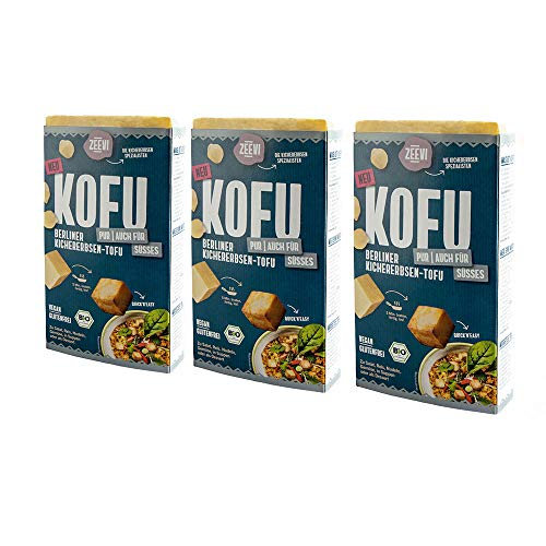 Zeevi Kofu Pur 3er Pack Kichererbsentofu 3x 200g bio vegan tofu glutenfrei