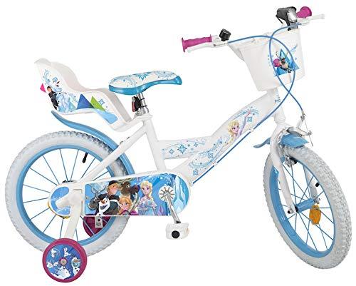 Pik&Roll Reine Des Neiges - Bicicleta de 16 Pulgadas, Unisex, Color Blanco y Azul
