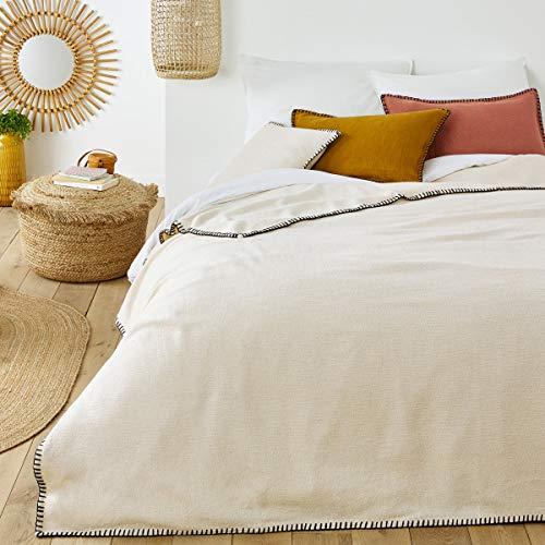 Great Features Of La Redoute Interieurs Raoul Plain Cotton Bedspread Beige Size 180 X 230 cm