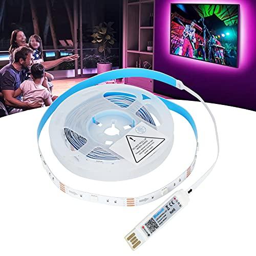 Tiras de Luces RGB, Tiras de Luces LED Flexibles Decorativas con Bluetooth de 4M con Sensor de Sonido para Fiestas para la atmósfera