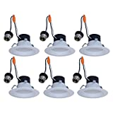 Utilitech 6-Pack 50-Watt Equivalent White Dimmable Recessed Downlight (4-in)