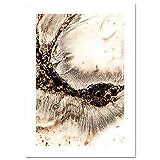 LiMengQi Arte de la Pared Naturaleza Paisaje Lienzos Carteles Nordic Animal Tiger Print Pintura Veta de Oro Decoración escandinava Imagen Decoración para el hogar (Sin Marco)