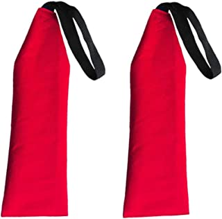 YiMusic 2 Pieces Red Travel Flag Tow Warning Flag with Webbing Suit for Kayak Canoes Safety Accessories