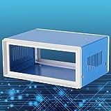 Caja de conexiones, Caja preventiva de gabinetes electrónicos de metal azul, Caja de gabinetes para proyectos eléctricos universales (170 * 130 * 80 mm)