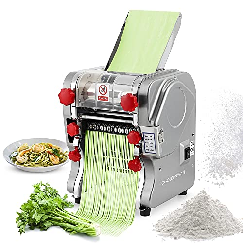 Macchina per la Pasta 550W Elettrico Wonton Maker Acciaio Inossidabile per Spaghetti Pasta e Lasagne con Larghezza Dell'impasto di 160 mm (2/6mm Piatto)