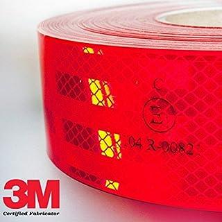 StickersLab-Stripe de diferentes colores para decoraci/ón de interiores o exteriores de coche rojo