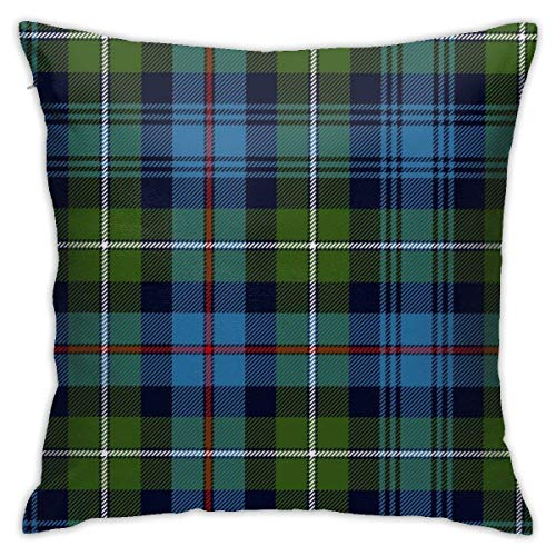 Mackenzie Highlander Tartan Ancient Colors Funda de cojín Throw Pillow Cover Square New Living Series Funda Decorativa Throw Pillow Diseño de Doble Lado Familia Interior Sofá Coche