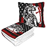 AOOEDM Pillow Blanket Travel Blanket Plane Packable and Pillow Set-Portable Hiking Blanket-Car Blankets Throws-Camping/Backpacking/Officeon
