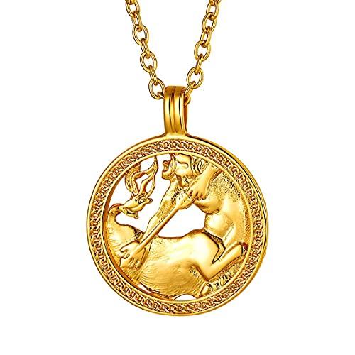 Collar de Sagitario bañado en oro