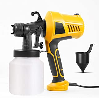 Electric Paint Sprayer, Hand Held Electric Paint Spray Gun,Detachable Container Adjustable Valve Knob 3 Painting Modes, 80...