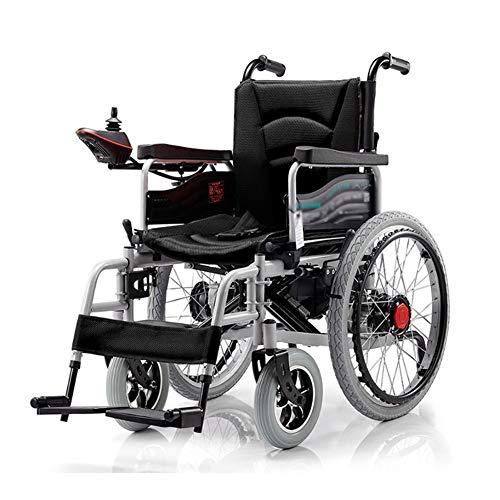 JY Elektrorollstuhl FüR äLtere Menschen, Vollautomatischer Intelligenter Rollstuhl, Klappbar,Black
