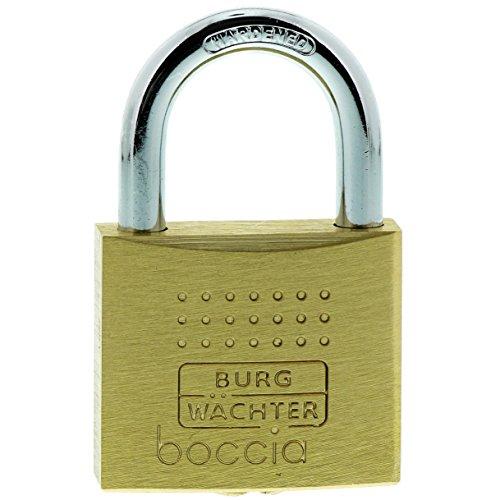 Burg-Wächter Vorhängeschloss, 6,5 mm Bügelstärke, Kneifschutz, 6 Schlüssel, Boccia 450 40 6 SB