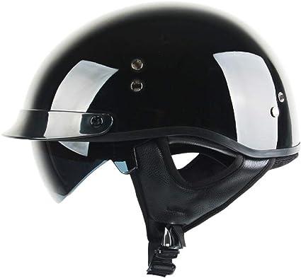 Gaozh Erwachsener Mopedhelm Retro Halbschalenhelm Mit Visie Motorradhelm Jethelm Für Damen Und Herren Erwachsene Oldtimer Vintage Style Harley Helm Dot Zertifizierung Küche Haushalt
