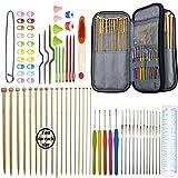 Best Knitting Needles Sets - Bamboo Knitting Needles Set 36pcs Carbonized Afghan Needles Review