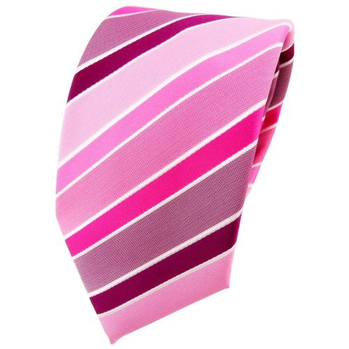 TigerTie - Corbata - rosa magenta pink morado blanco rayas