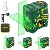 Livella laser Verde 45M, USB Ricarica, Linea Laser a Croce POPOMAN, Doppi Modalità, Autolivellante...
