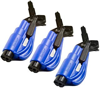 Res-Q-Me Keychain Escape Tool- BLUE (3 pack)