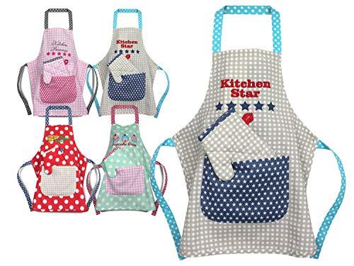Emily´s Check Kochmütze - Küchenschürze & Topfhandschuh für Kinder 468.550, Küchenschürze & Topfhandschuh 3-6 Jahre, Kitchen Star
