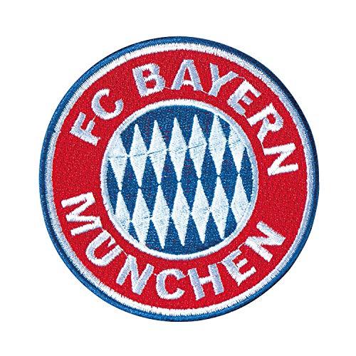 Bayern München Aufnäher - Logo Ø 8 cm - Patch, Aufbügler kompatibel FCB - Plus Lesezeichen I Love München