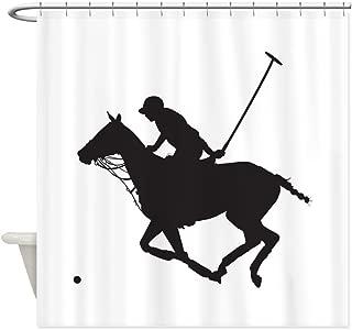 CafePress Polo Pony Silhouette Decorative Fabric Shower Curtain (69
