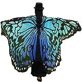 Powerfulline Butterfly Wing Beach Towel Cape Scarf Shawl for Women Christmas Halloween
