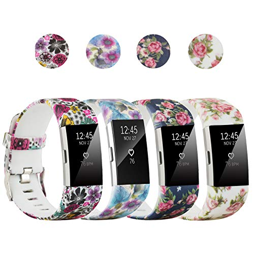 honecumi Replacement Bands Compatible with Fitbit Charge 2 Wristbands Strap for Men & Women Colorful Watch Band/Strap/Bracelet