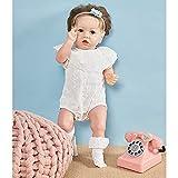 Bebé NiñA Renacida con Los Ojos Bien Abiertos, 55 Cm 22 Pulgadas Bebé Reborn, Silicona Blanda Rebirth Reality MuñEca Cuerpo RíGido - For 3-10 Baby Gifts