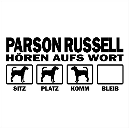 Siviwonder Auto Aufkleber Parson Jack Russell Hunde Hören aufs Wort Hundeaufkleber 30cm Black