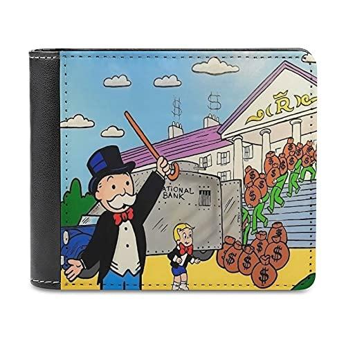 Anime ALEC Monopoly Eden ROC Cartera de cuero PU embrague, puede acomodar tarjetas de crédito, dinero en efectivo, etc. DIY bolso personalizado, caja de la tarjeta de crédito de la moda