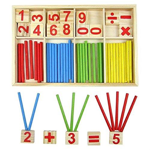 Youkara 1 Pc Cuente El Número de Juguetes Educativos para Niños Material Didáctico (Una Caja de Colores como Se Muestra En La Figura)