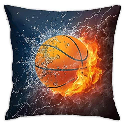 368 Fundas de cojín cuadradas decorativas de baloncesto para el hogar, sofá, dormitorio, oficina, coche, 45,7 x 45,7 cm