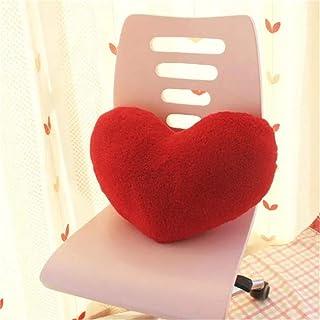 Amyseller Rojo forma de corazón felpa juguete tiro almohadas apoyo apoyo suave abrazando almohada infantil Navidad decoración regalos