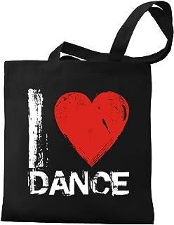 Eddany I love Dance Grunge Style Canvas Tote Bag