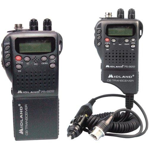 MIDLAND 75-822 Handheld 40-Channel CB Radio with Weather/All-Hazard Monit...