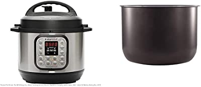 Instant Pot Duo Mini 7-in-1 Electric Pressure Cooker, Sterilizer, Slow Cooker, Rice Cooker, Steamer, Saute, Yogurt Maker, and Warmer, 3 Quart, 11 One-Touch Programs & 3 Quart Ceramic Cooking Pot
