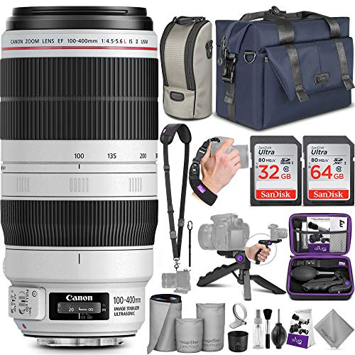 Canon EF 100-400mm f/4.5-5.6L is II USM Lens with...