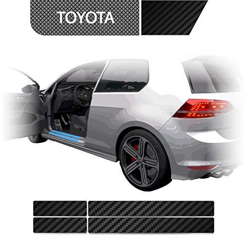 BLACKSHELL Einstiegsleisten Schutzfolie + Premium Rakel für GT86 ab 2012 Carbon Matt - SET für alle Einstiege mit Anleitung - passgenaue Lackschutzfolie, Auto Schutzfolie