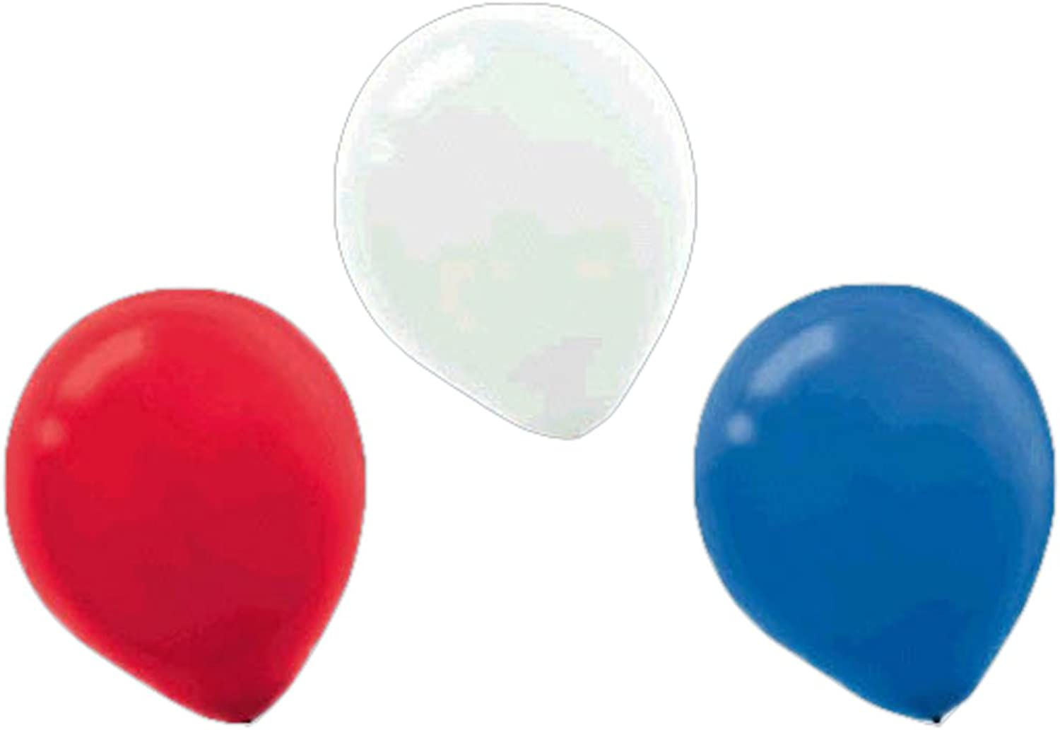 Amscan Latex Party Balloons, 12 ,  Red, White and bluee , 288 Ct.