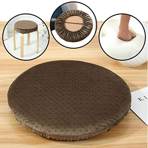 Ronde Bar Krukken Cover, Memory Foam Seat Kussen Met Elasticiteit Fluweel 4,5 cm Dikke Stoel Pad voor Lage Kruk Counter Hoge Krukken
