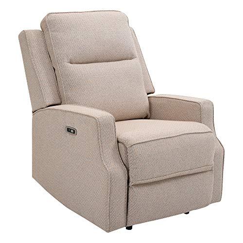 HOMCOM Relaxsessel Liegesessel TV Sessel Zero-Wall Funktion Einzelsofa 150° neigbar Fernsehsessel Polyester Beige 84 x 94 x 102 cm