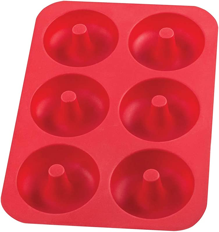 Mrs Anderson S Baking 43840 Donut Pan 6 Cup Red